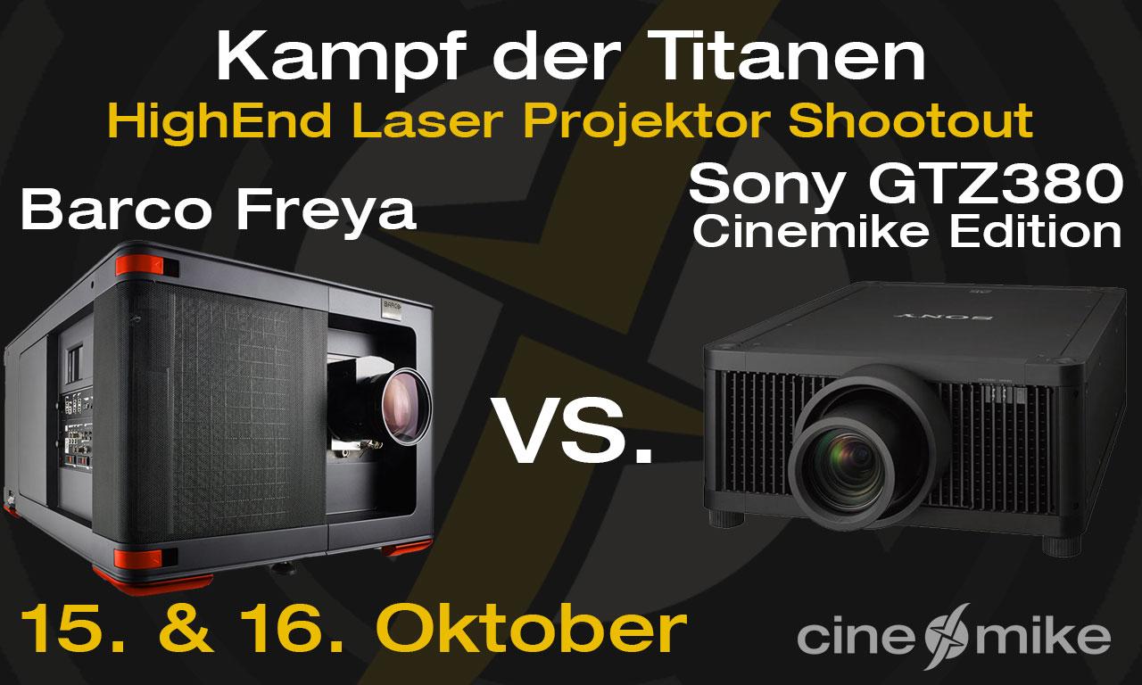 HighEnd Laser Projektor Shootout am 15. & 16. Oktober bei Cinemike!